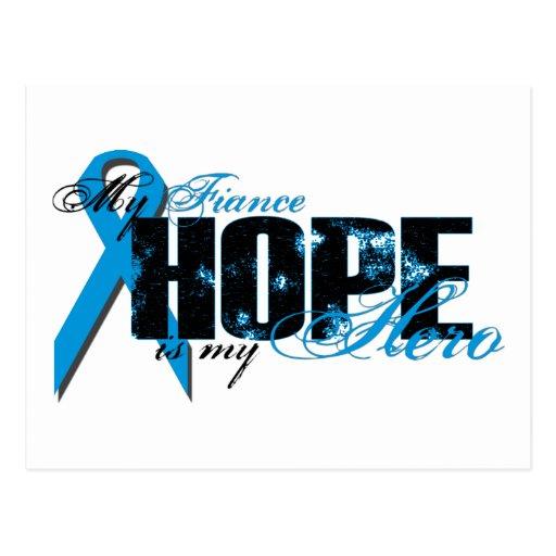 Prometido mi héroe - esperanza de la próstata postales