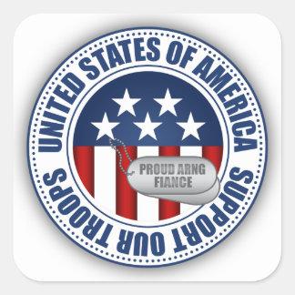 Prometido orgulloso del Guardia Nacional del Calcomanias Cuadradas