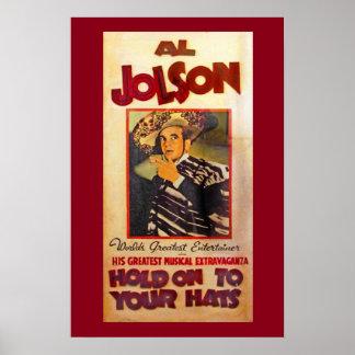 Promo del teatro de Al Jolson Póster