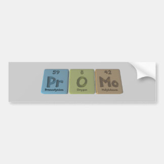 Promo-Pr-O-Mo-Praseodymium-Oxygen-Molybdenum.png Pegatina Para Coche