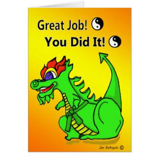 Promoción a la tarjeta del dragón del cinturón