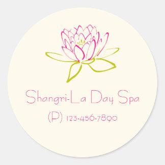 Promoción del negocio - flor de Lotus/lirio de Pegatina Redonda