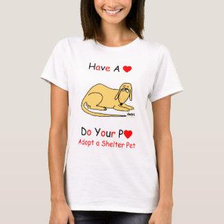 Promoción del rescate del perro del refugio para camiseta
