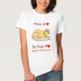 Promoción del rescate del perro del refugio para camisetas