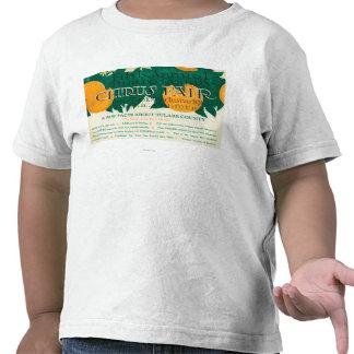 Promoción justa de la quinta fruta cítrica anual d camisetas
