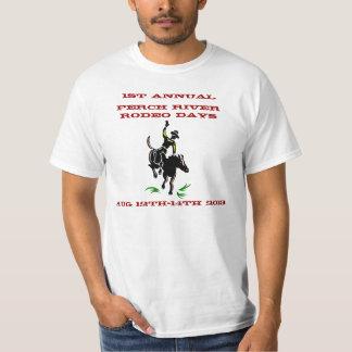 Promoción occidental del rodeo de Vntg del caballo Camisetas