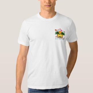 Promoción tropical de la isla del desalojo urgente camisas