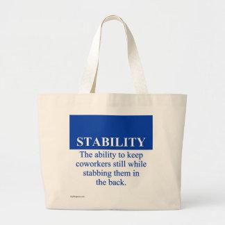 Promover la estabilidad del lugar de trabajo (3) bolsa de tela grande