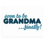 Pronto para ser abuela finalmente tarjetas postales