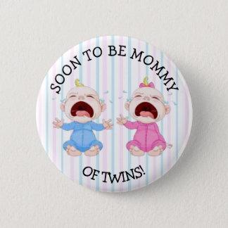 Pronto para ser mamá del botón de los gemelos