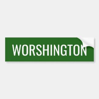 Pronunciación del estado de Washington Pegatina Para Coche