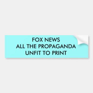 PROPAGANDA DE FOX NEWS PEGATINA PARA COCHE