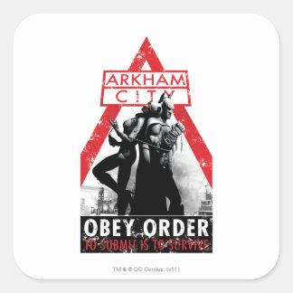Propaganda de la CA - Obey/To Submit es sobrevivir Pegatina Cuadrada