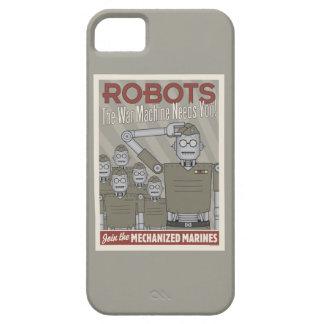 Propaganda de los militares del robot del estilo funda para iPhone SE/5/5s