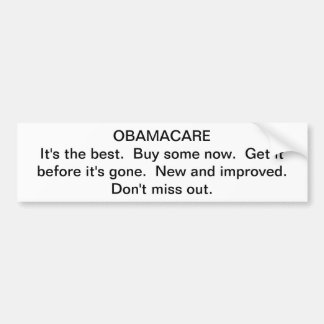 Propaganda de Obamacare Pegatina Para Coche