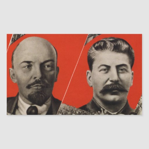 Propaganda del comunista de Lenin y de Stalin Rectangular Altavoces