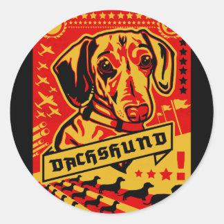Propaganda del Dachshund Etiquetas Redondas