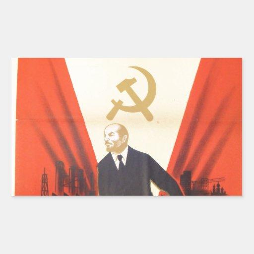 Propaganda francesa del comunista del vintage rectangular altavoces