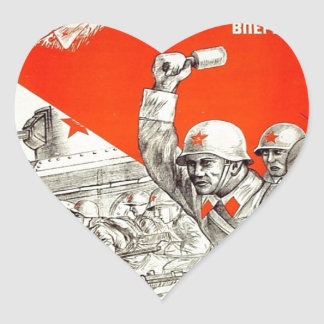Propaganda rusa de WWII Colcomanias De Corazon Personalizadas
