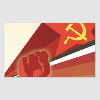 Propaganda rusa del comunista del vintage rectangular altavoces
