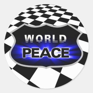 Propagando paz de mundo diseña al pegatina