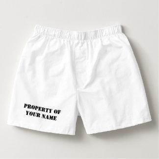 Propiedad de encargo de los pantalones cortos y de calzoncillos