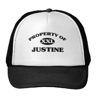 Propiedad de JUSTINE Gorras