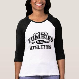 Propiedad de la camisa del atletismo del zombi