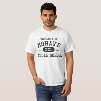 Propiedad de la camiseta blanca de M.S. Men's del