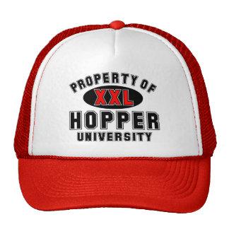 Propiedad de la universidad de la tolva gorros bordados
