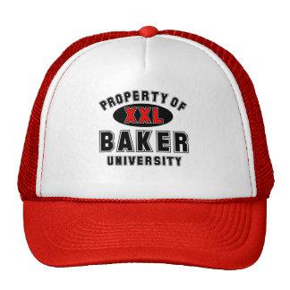Propiedad de la universidad del panadero gorro de camionero