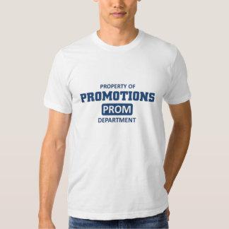 Propiedad de promociones camisetas