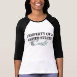 Propiedad de un E.E.U.U. Coastie Camisetas