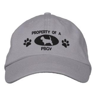 Propiedad de un gorra bordado PBGV