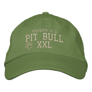 Propiedad de un gorra bordado pitbull gorra bordada