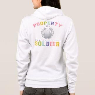 Propiedad de un soldado de los E.E.U.U. (colorido) Sudadera
