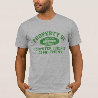 Propiedad del departamento de informática (verde) camiseta