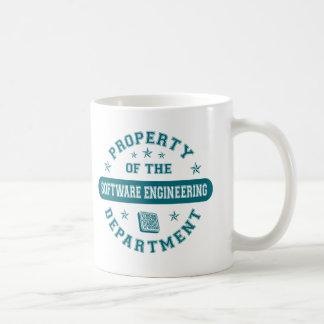Propiedad del departamento de la ingeniería de pro taza