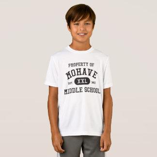 Propiedad del deporte-tek de la juventud de la camiseta