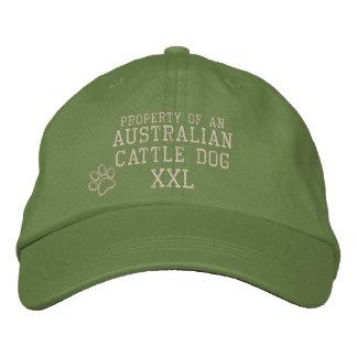 Propiedad del gorra bordado perro australiano del  gorra de beisbol