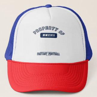Propiedad del gorra del fútbol de la fantasía