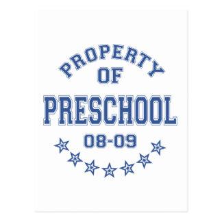 Propiedad del preescolar postal