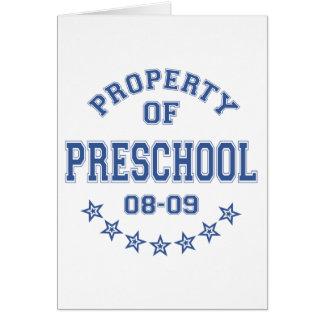 Propiedad del preescolar felicitaciones