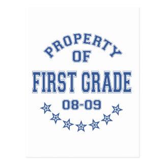 Propiedad del primer grado postal