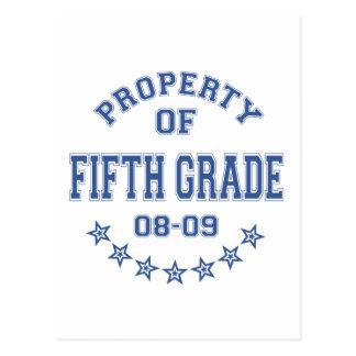 Propiedad del quinto grado tarjeta postal