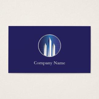 Propiedad inmobiliaria comercial tarjeta de negocios
