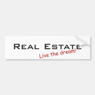 Propiedades ideales/inmobiliarias pegatina para coche
