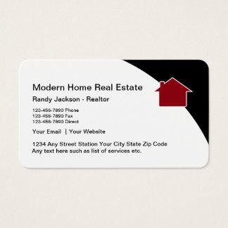 Propiedades inmobiliarias de la casa con clase del tarjeta de visita