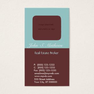 Propiedades inmobiliarias del agente inmobiliario tarjeta de visita