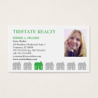 Propiedades inmobiliarias del verde de las casas tarjeta de visita